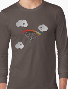Parachute with Happy Clouds Long Sleeve T-Shirt