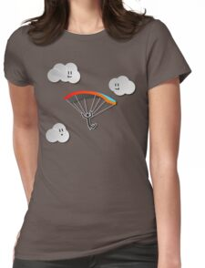 Parachute with Happy Clouds Womens Fitted T-Shirt