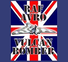 V BOMBER, Avro Vulcan, Union Jack, RAF, Bomber, Cold War, Aircraft, British, Falklands, War Unisex T-Shirt