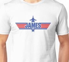 Custom Top Gun Style - James Unisex T-Shirt