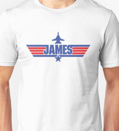 Custom Top Gun Style - James Unisex T-Shirt