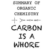 carbon is a whore - summary of organic chemistry Photographic Print