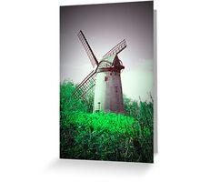 Vintage Windmill Scene Greeting Card