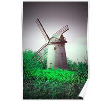 Vintage Windmill Scene Poster
