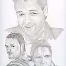 Russell Crowe, actor by Eva  Ason