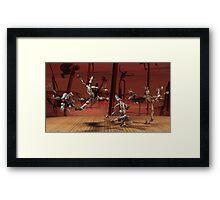 Robots Ballet Framed Print