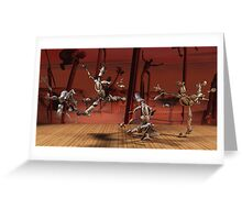 Robots Ballet Greeting Card