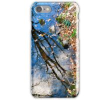 reflected trees iPhone Case/Skin