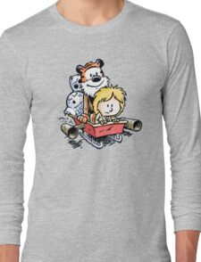 Calvin and Hobbes Inspired Stars Wars Long Sleeve T-Shirt