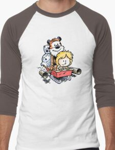 Calvin and Hobbes Inspired Stars Wars Men's Baseball ¾ T-Shirt