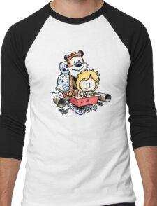 Calvin and Hobbes Inspired Stars Wars Men's Baseball ¾ T-Shirt