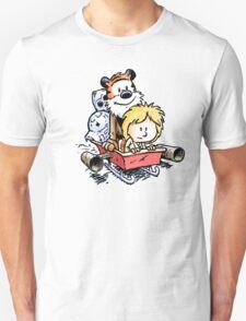 Calvin and Hobbes Inspired Stars Wars Unisex T-Shirt