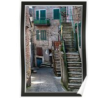 Walking in Fumone Italy Poster