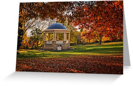 Rotunda in St David's Park, Hobart, Tasmania by Chris Cobern