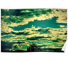 Pipe and Clouds Poster