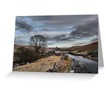 Winter on the moors. Greeting Card