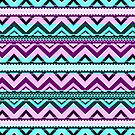 Mix #123 - Purple And Blue Aztec Pattern by Orna Artzi