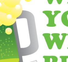 Wish You Were Beer St Patricks Day Sticker