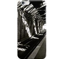 waiting at the train station iPhone Case/Skin