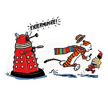 Calvin And Hobbes - Dr who Photographic Print