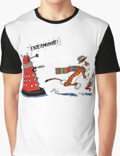 Calvin And Hobbes - Dr who Graphic T-Shirt