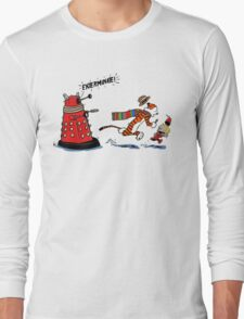 Calvin And Hobbes - Dr who T-Shirt
