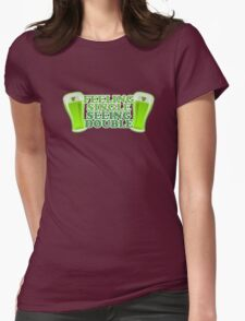 Feeling Single Seeing Double St Patrick's Day Womens Fitted T-Shirt