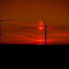 Late Night Wind Mills by lendale