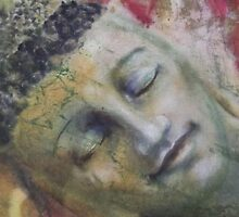 the face of the Reclining Buddhas  by Tilly Campbell-Allen