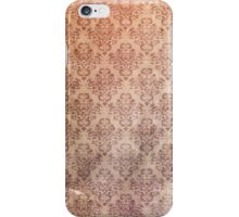 Vintage Aged and Stained Floral Wallpaper iPhone Case/Skin