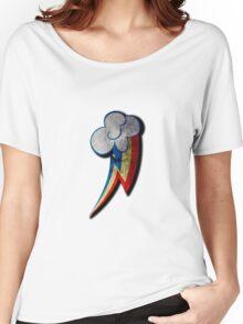Rainbow Dash Grunge Cutie Mark Women's Relaxed Fit T-Shirt