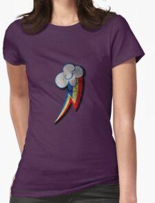 Rainbow Dash Grunge Cutie Mark Womens Fitted T-Shirt