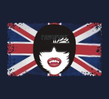 Fangpunk Union Jack Pixel T Shirt MISSY Size T-Shirt