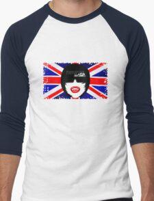 Fangpunk Union Jack Pixel T Shirt MISSY Size Men's Baseball ¾ T-Shirt
