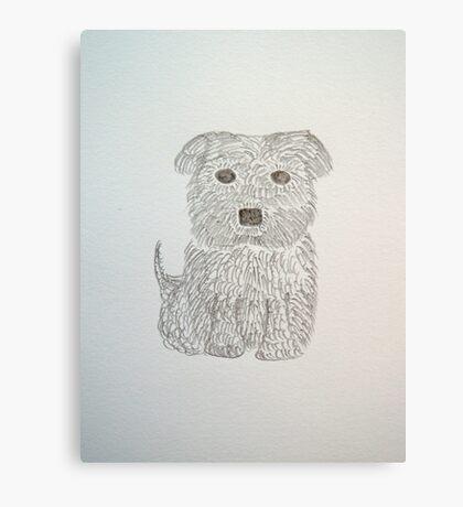 Tiny Terrier Canvas Print