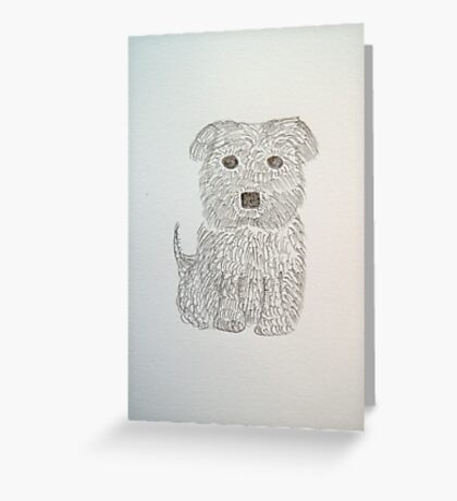 Tiny Terrier Greeting Card
