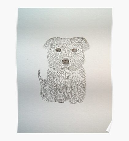 Tiny Terrier Poster