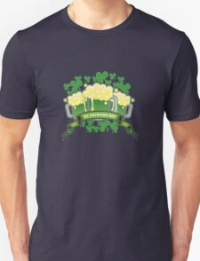 St Patricks Triple Beer Banner T-Shirt