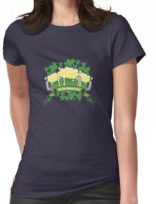 St Patricks Triple Beer Banner Womens Fitted T-Shirt