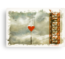 Love on the line Canvas Print