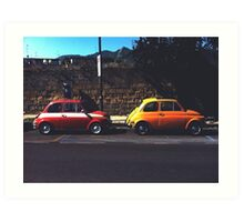 Fiat & Abarth 500s Art Print