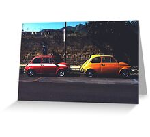 Fiat & Abarth 500s Greeting Card