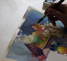 Watercolor Artist by Andrew Bloom