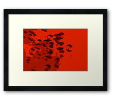 Blood Bubbles II Framed Print
