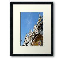 Facade of San Marco's Basilica Framed Print