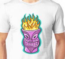 Tiki God Flaming Drink  Unisex T-Shirt