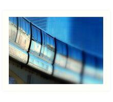 Tilt-Shift a MonoRail Blue Art Print