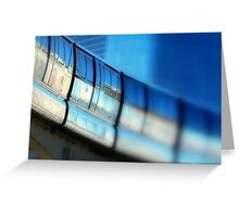 Tilt-Shift a MonoRail Blue Greeting Card