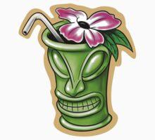 Tiki Flower God Drink One Piece - Short Sleeve