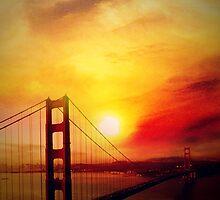 SF under a burning sunset by angeldragon069